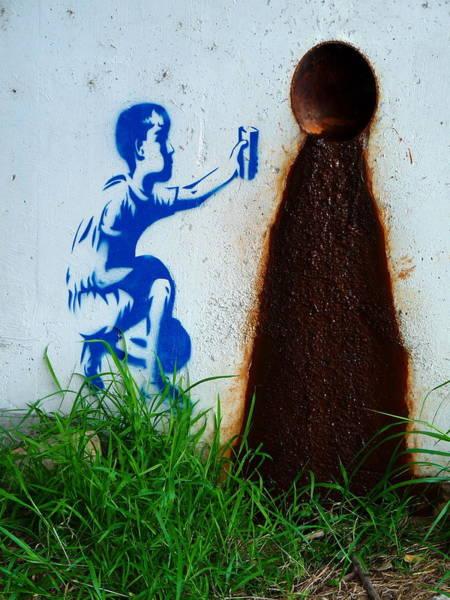 Photograph - Street Art Clean Water by Jeff Lowe