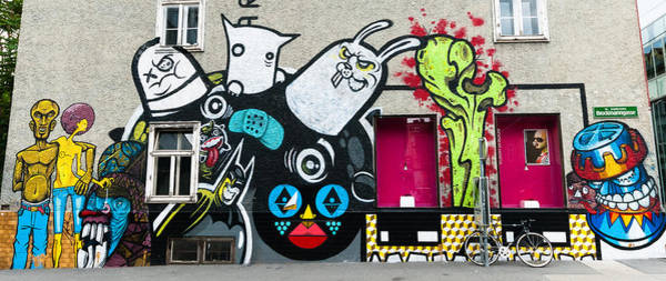 Street Art In Austria  Art Print by Pedro Nunez