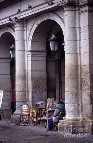 Photograph - Street Artist Madrid by James Brunker