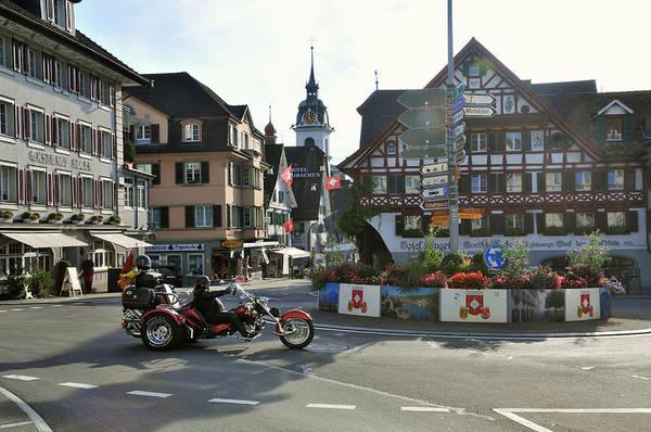 Crash Helmet Photograph - Street At The Goethehaus In Kuessnacht by Thomas Stankiewicz / Look-foto
