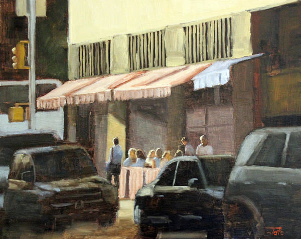 Wall Art - Painting - Street Cafe by Tate Hamilton