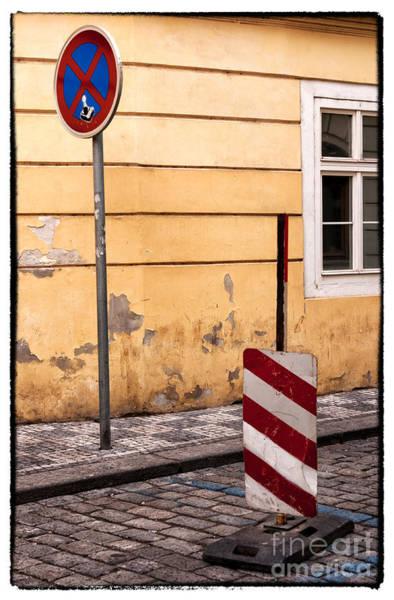 Wall Art - Photograph - Prague Street Closed by John Rizzuto
