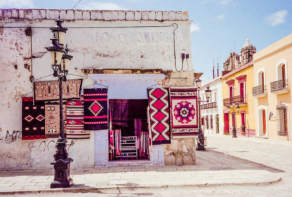 Photograph - Street Corner In Oaxaca by Pete Hendley