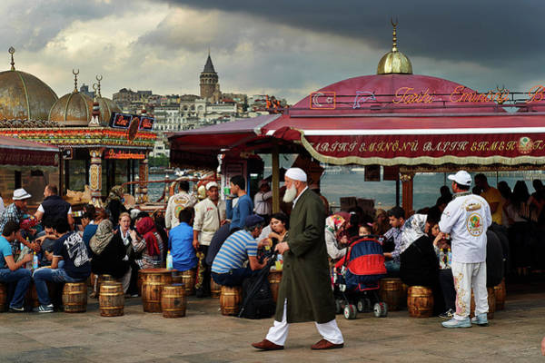Canopy Photograph - Street Food On The Golden Horn, Istanbul by Andrea Pistolesi