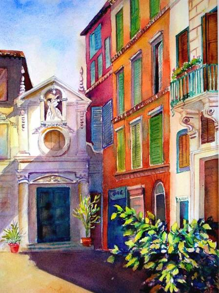Painting - Street In Rome by Betty M M Wong