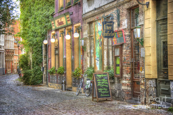 Neighborhood Photograph - Street In Ghent by Juli Scalzi
