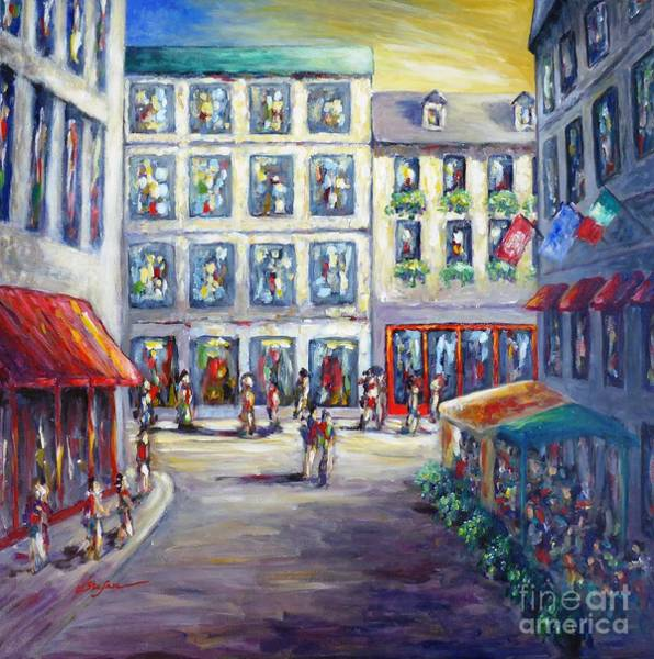 Painting - Street In Old Montreal by Cristina Stefan