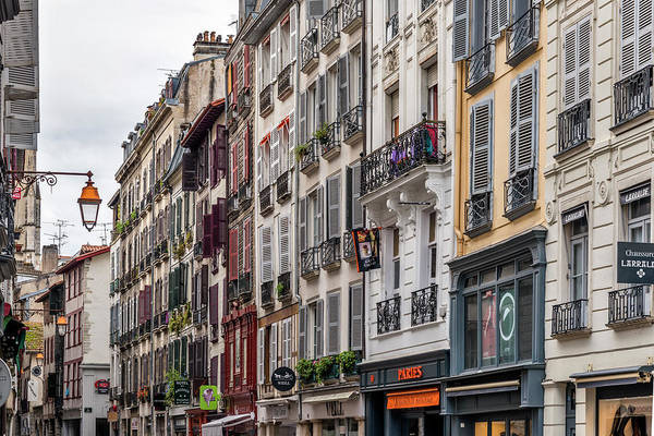 Pyrenees Photograph - Street In The Grand Bayonne Quarter by Izzet Keribar