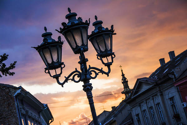 Ortodox Wall Art - Photograph - Street Lanterns At Dawn by Newnow Photography By Vera Cepic
