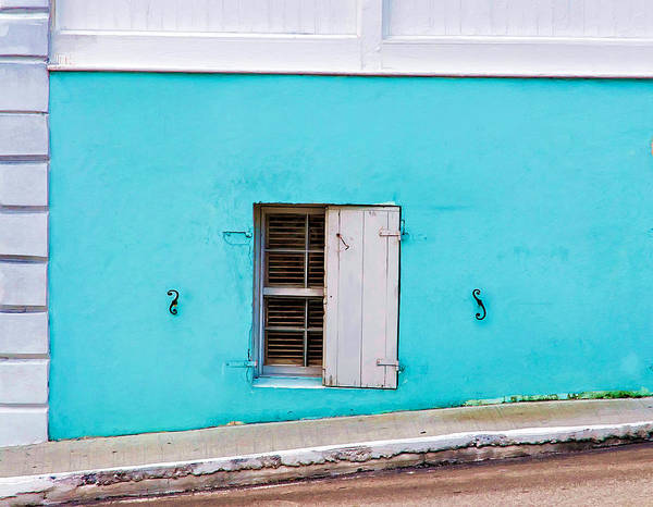 Photograph - Street Level Window In Nassau by Gary Slawsky