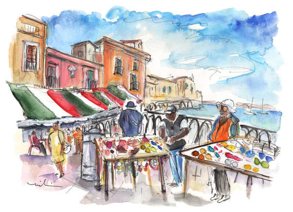 Painting - Street Merchants In Ortigia by Miki De Goodaboom