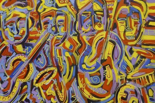 Bass Guitar Painting - Street Music by Isaac Rudansky