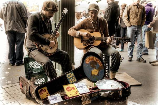 Busker Wall Art - Photograph - Street Music by Spencer McDonald