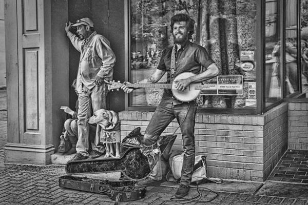 Photograph - Street Musician Busker by Randall Nyhof