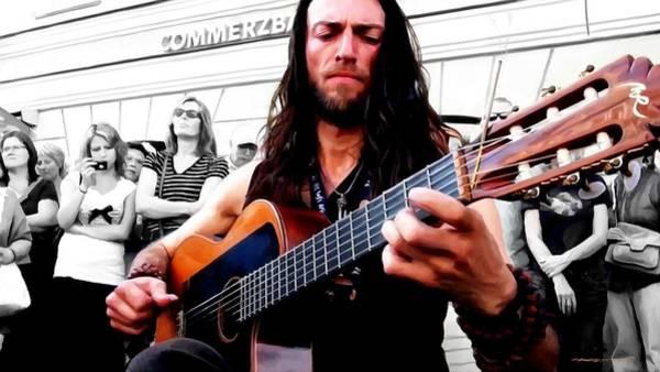 Digital Art - Street Musician Series #1 by Gabriel T Toro