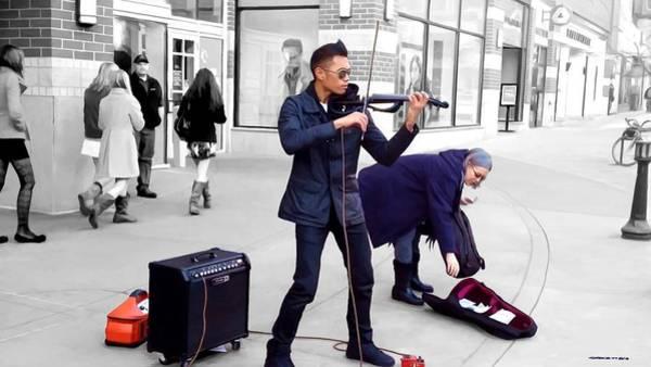 Digital Art - Street Musician Series #2 by Gabriel T Toro