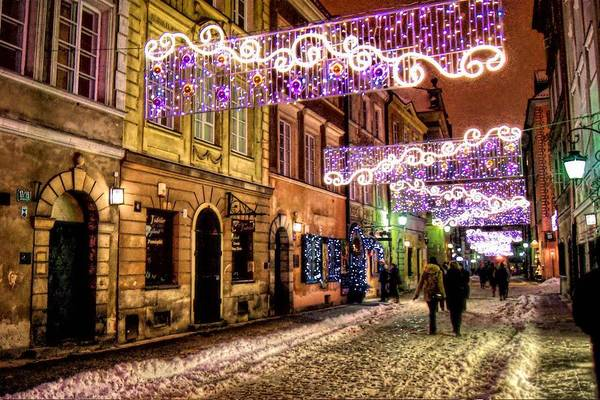 Christmass Photograph - Street Of Lights by Nathalie Hope