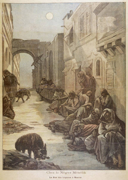 Wall Art - Drawing - 'street Of The Lepers', In  Harrar by Mary Evans Picture Library
