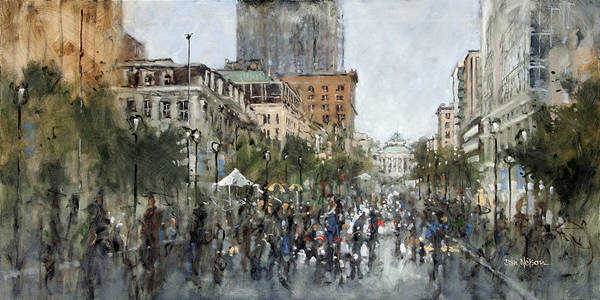 Street Scape Painting - Street Painting Festival by Dan Nelson