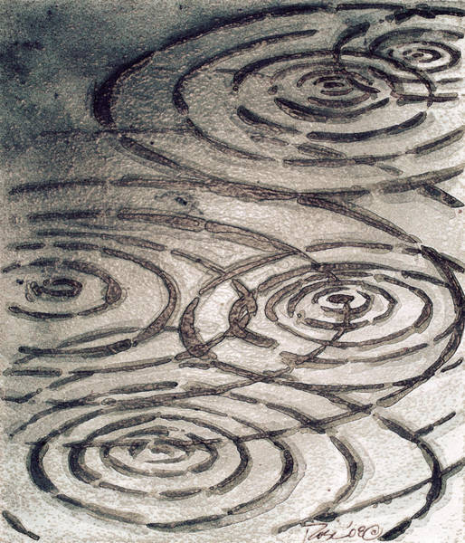 Wall Art - Painting - Street Ripples by Rosemary Craig