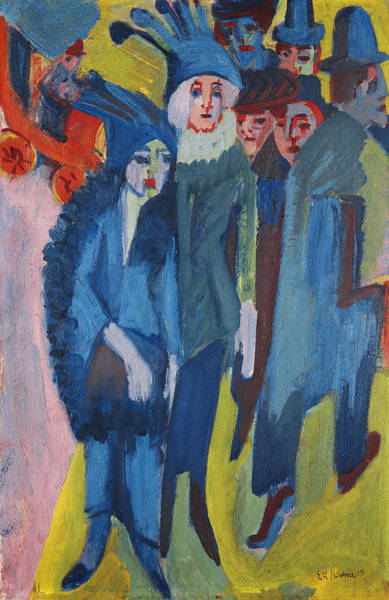 Urban Expressions Wall Art - Painting - Street Scene by Ernst Ludwig Kirchner