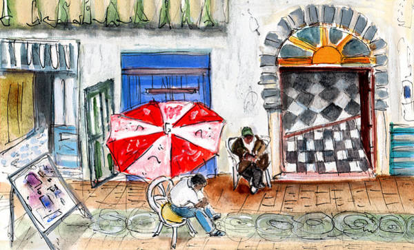 Painting - Street Scene In Essaouira by Miki De Goodaboom