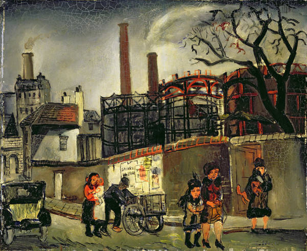Power Station Wall Art - Painting - Street Scene In Paris, 1926 by Christopher Wood