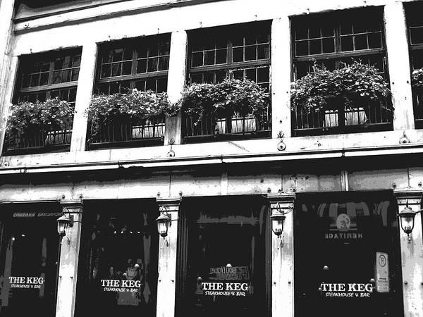 The Keg Photograph - Street Scene Montreal by Ann Powell