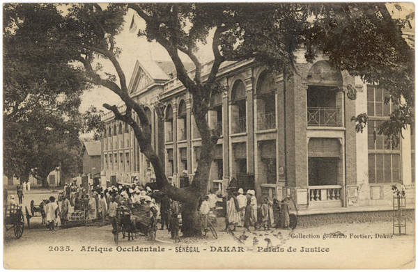 Dakar Photograph - Street Scene Outside The  Courts by Mary Evans Picture Library