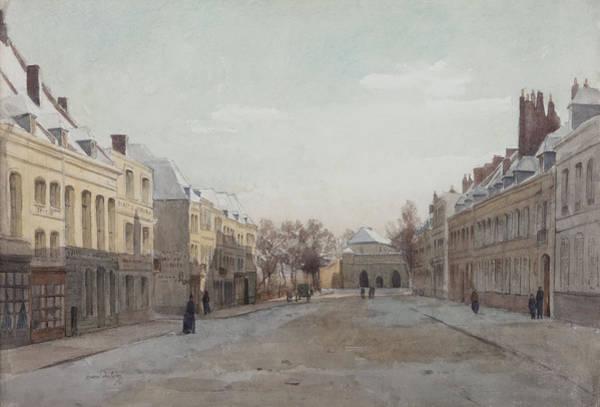 City Scene Painting - Street Scene by Henri Duhem