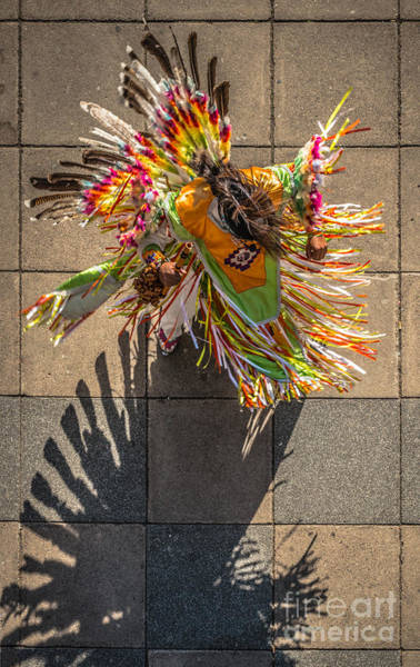 Down Feather Photograph - Street Shadow Dancer by Ian Monk