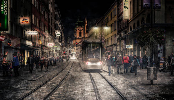 Tram Wall Art - Photograph - Street Stories by Jackson Carvalho