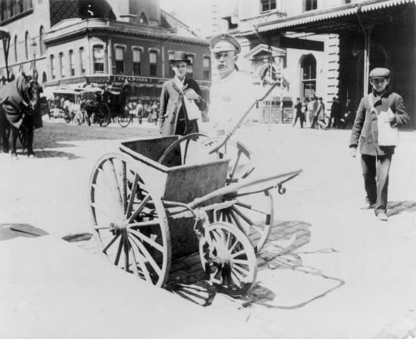Photograph - Street Sweeper, C1896 by Granger