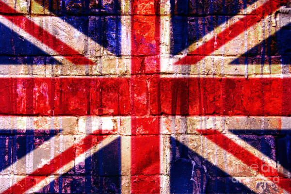 Iconic Digital Art - Street Union Jack by Delphimages Photo Creations