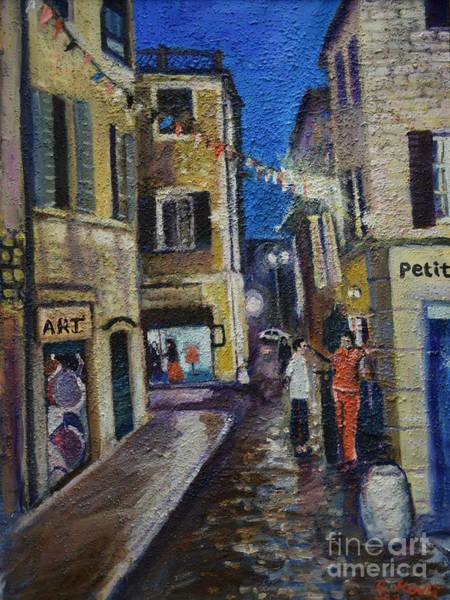 Painting - Street View Provence 2 by Raija Merila