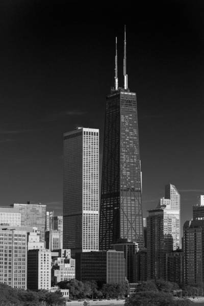 Streeterville Chicago Illinois B W Art Print