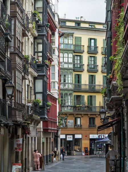 Bilbao Photograph - Streets And Buildings At Casco Viejo by Izzet Keribar