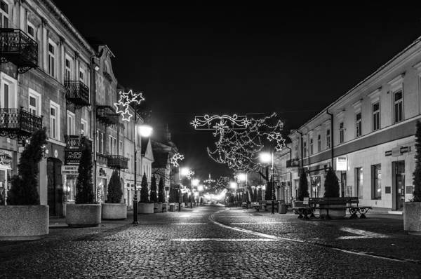Streets Before Christmas Art Print