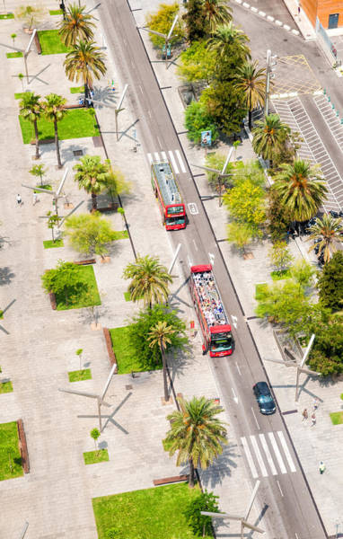 Photograph - Streets Of Barcelona - View From Above by Matthias Hauser
