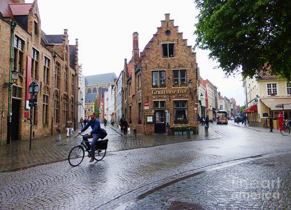 Photograph - Streets Of Brugges 3 by Crystal Nederman