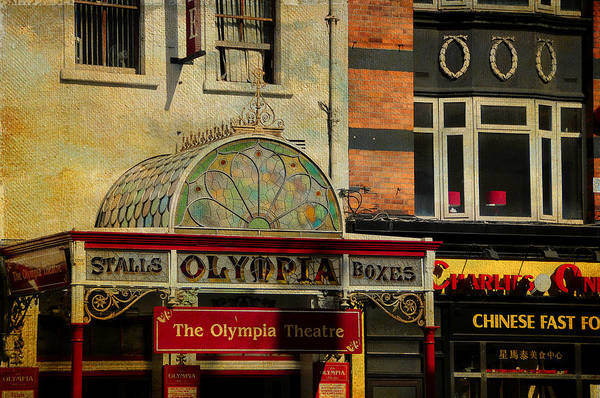 Photograph - Streets Of Dublin. The Olympia Theatre. Painting Collection by Jenny Rainbow