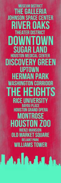 Streets Of Houston 2 Art Print