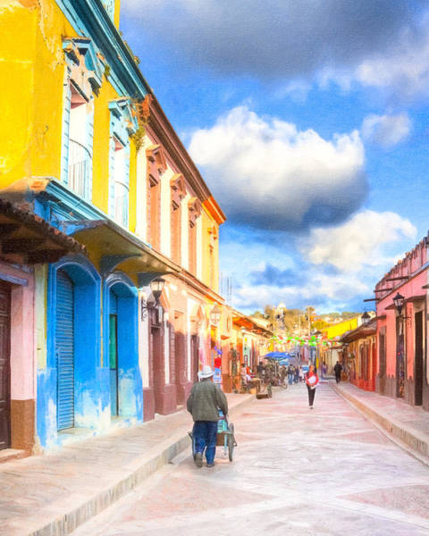 Streets Of San Cristobal De Las Casas - Colorful Mexico Art Print