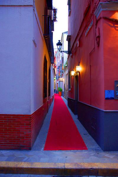 Streets Of Seville - Red Carpet  Art Print
