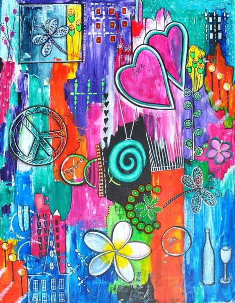 Mojo Painting - Strenght Of Spectrum by Astrid Rosemergy