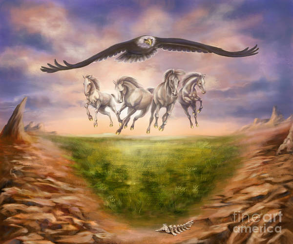 Wall Art - Painting - Strength Of The Horse by Tamer and Cindy Elsharouni