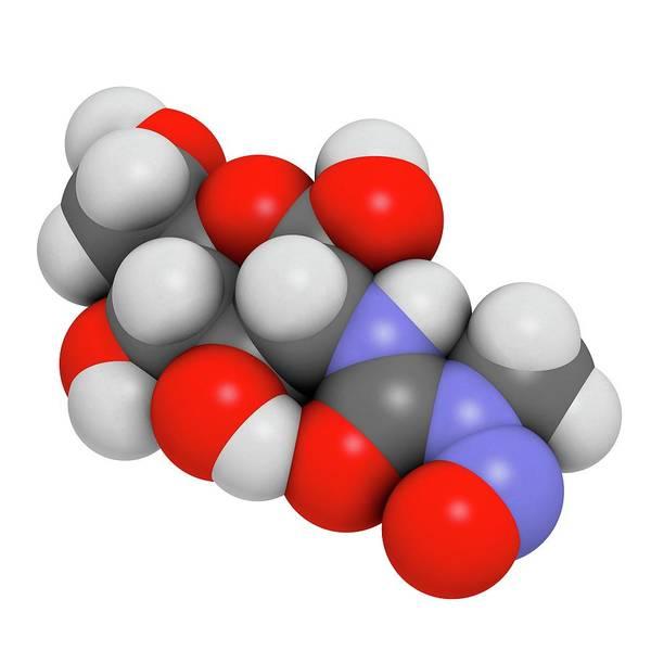 3d Model Photograph - Streptozotocin Cancer Drug Molecule by Molekuul