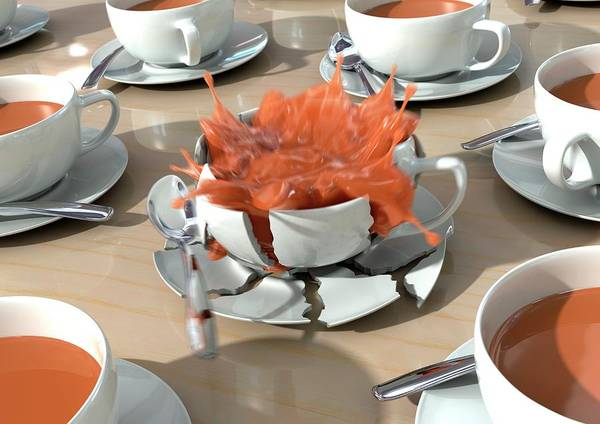 Coffee Mug Photograph - Stressed Out by Animated Healthcare Ltd/science Photo Library