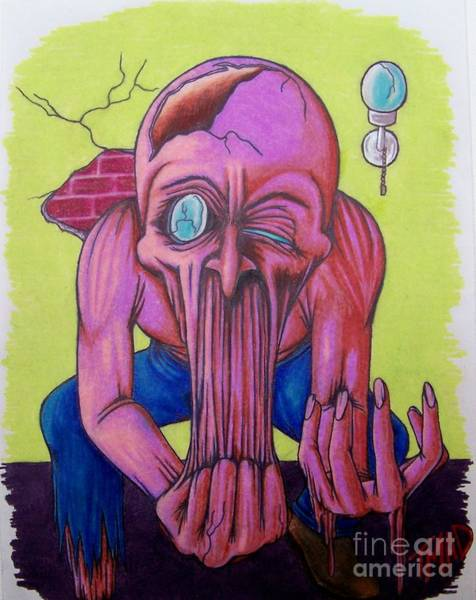 Tmad Drawing - Stretching The Truth by Michael  TMAD Finney