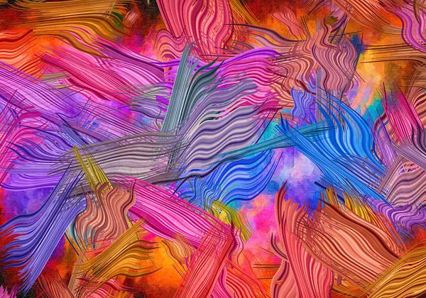 Digital Art - Striated Brushstrokes by Rick Wicker